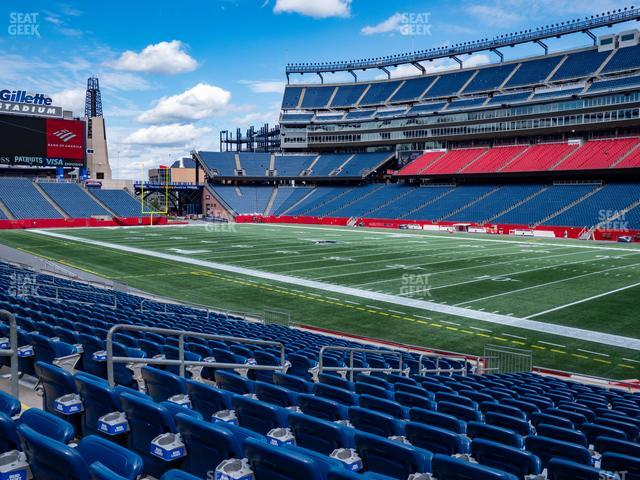 Gillette Stadium Section 126 view