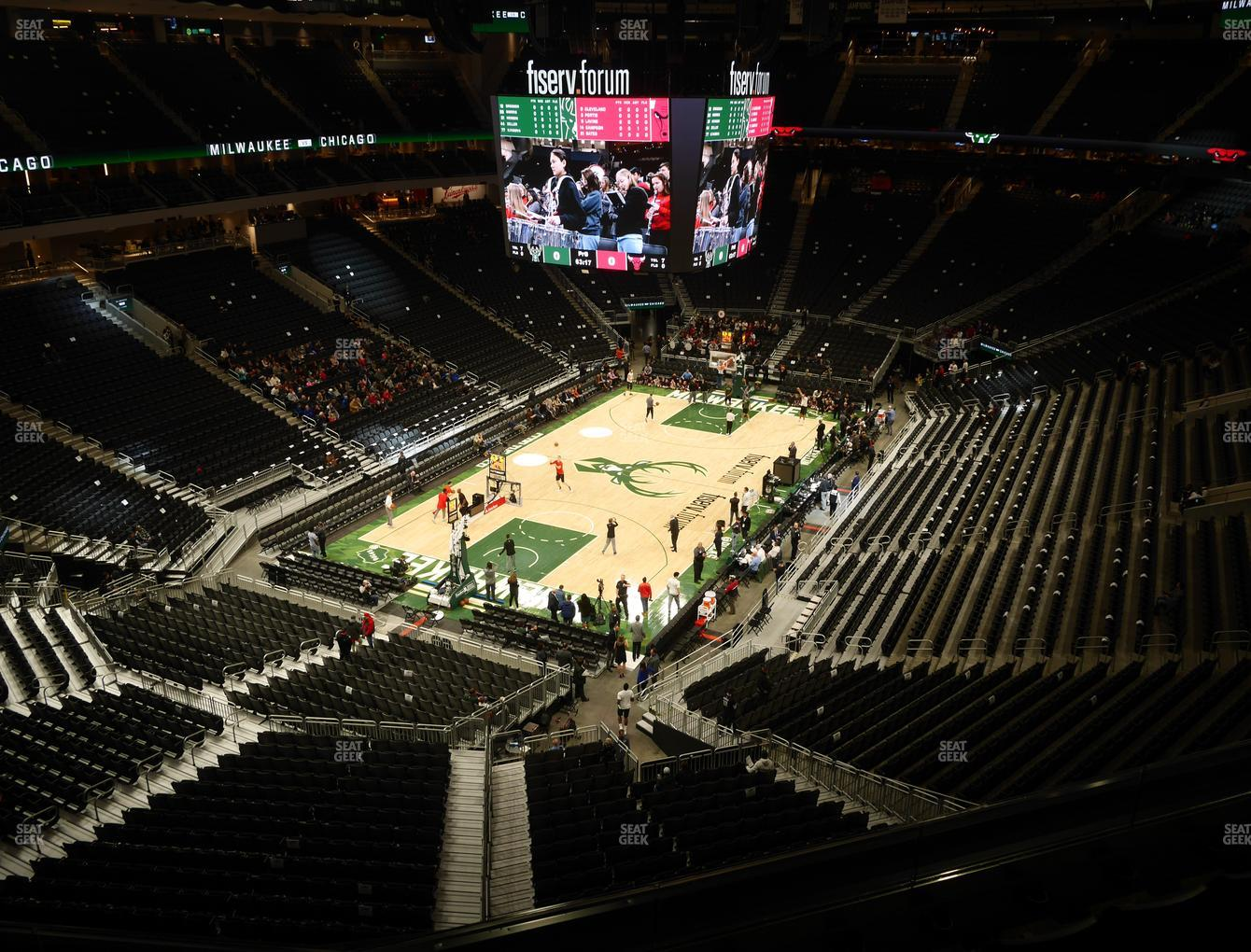 Milwaukee Bucks at Fiserv Forum Section 227 View