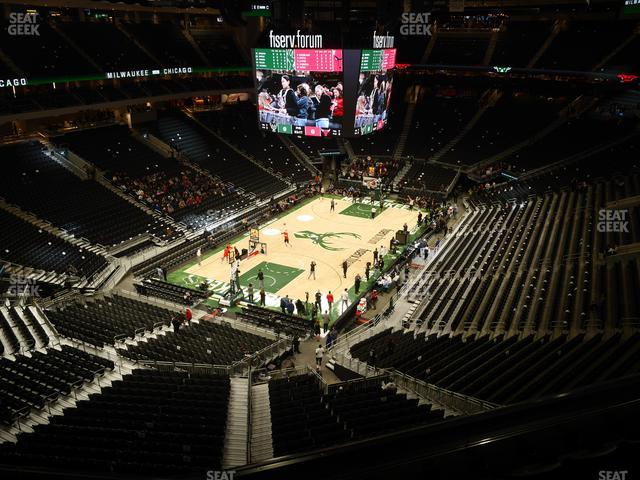 Fiserv Forum Section 227 view
