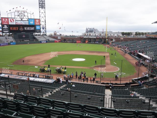 Oracle Park Section 220 view