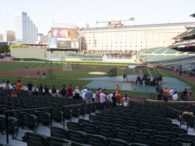 Oriole Park at Camden Yards Section 46 view
