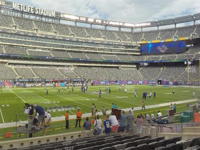 MetLife Stadium Section 142 view