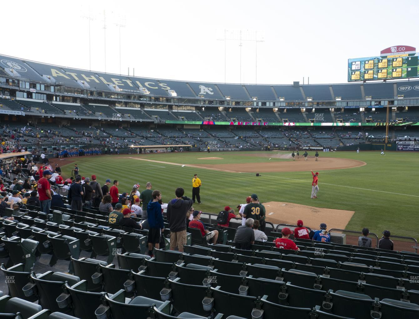 Oakland Athletics at RingCentral Coliseum Section 107 View