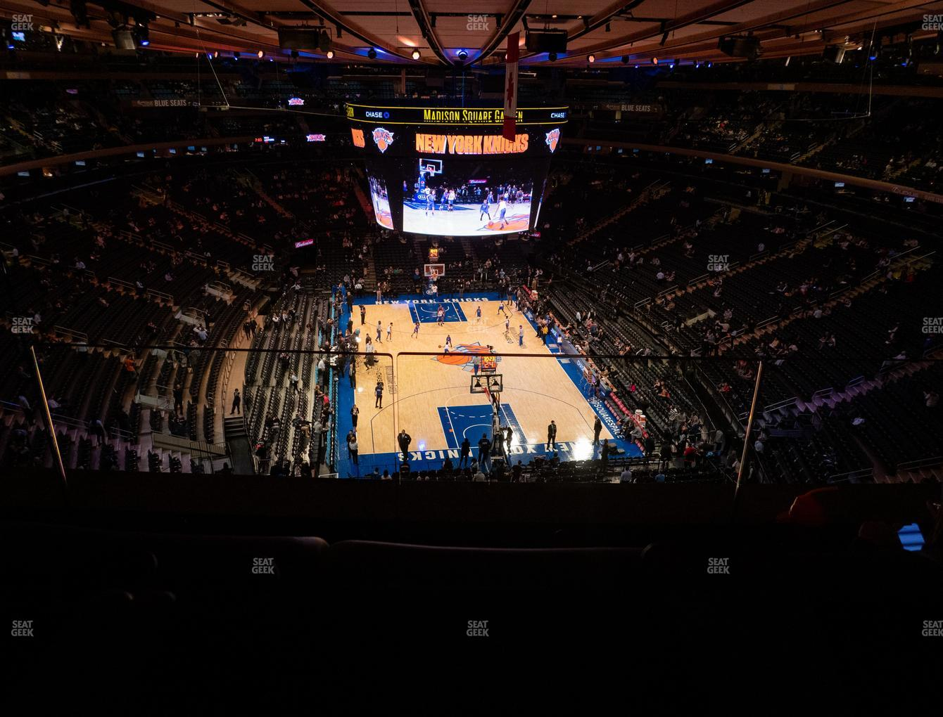 New York Knicks at Madison Square Garden Section 304 View