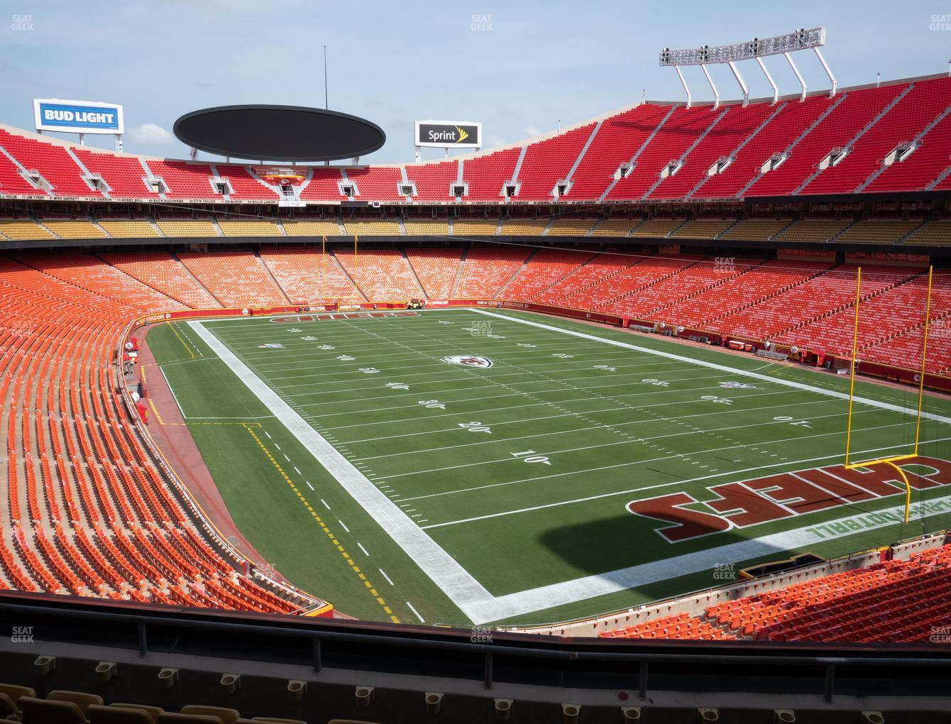 Kansas City Chiefs at Arrowhead Stadium Section 216 View