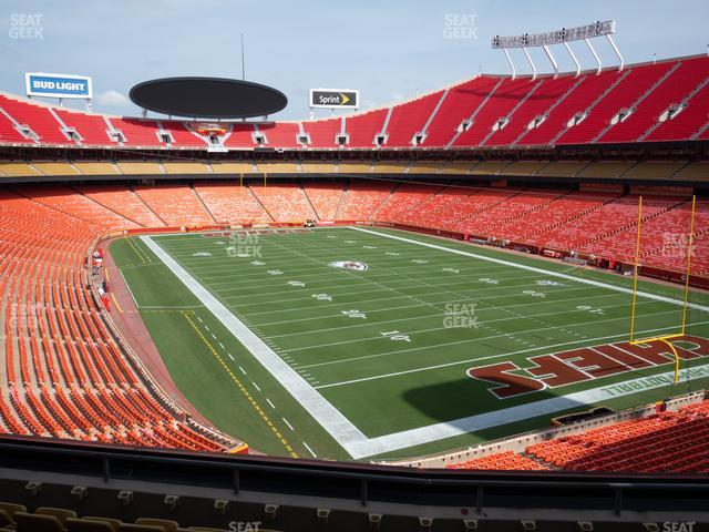 Arrowhead Stadium Section 216 view