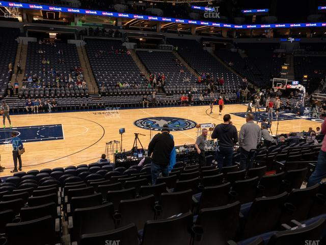 Target Center Section 132 view