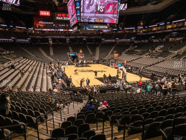 AT&T Center Section 102 view