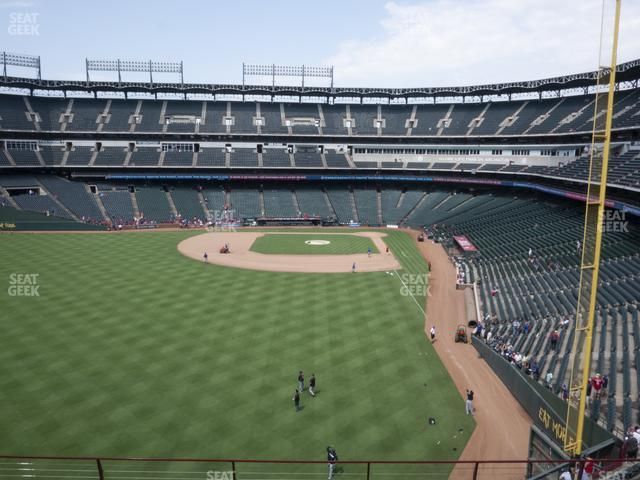 Globe Life Park Section 205 view