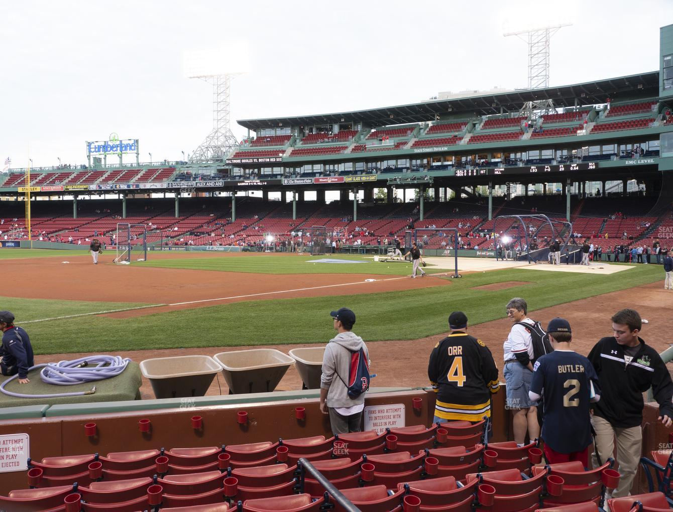 Boston Red Sox at Fenway Park Field Box 73 View