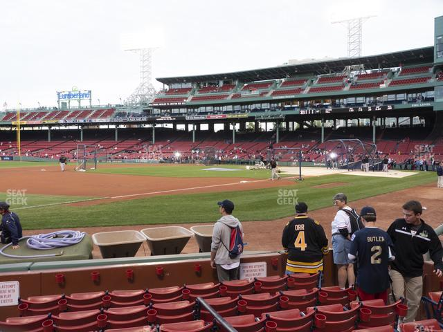 Fenway Park Field Box 73 view