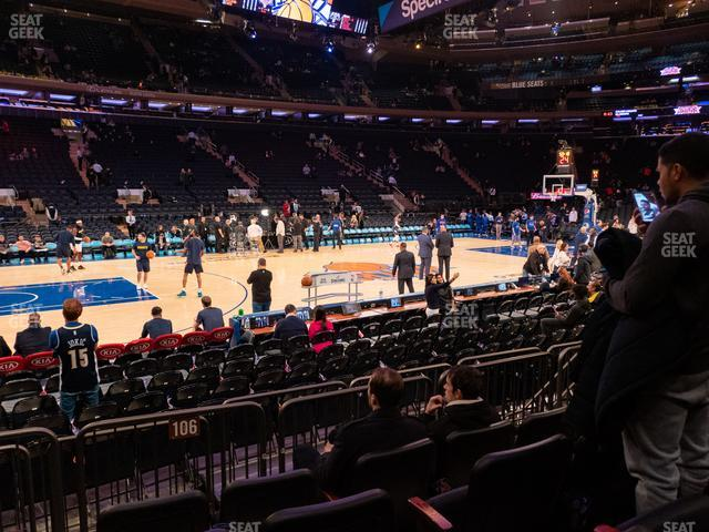 Madison Square Garden Section 106 D view