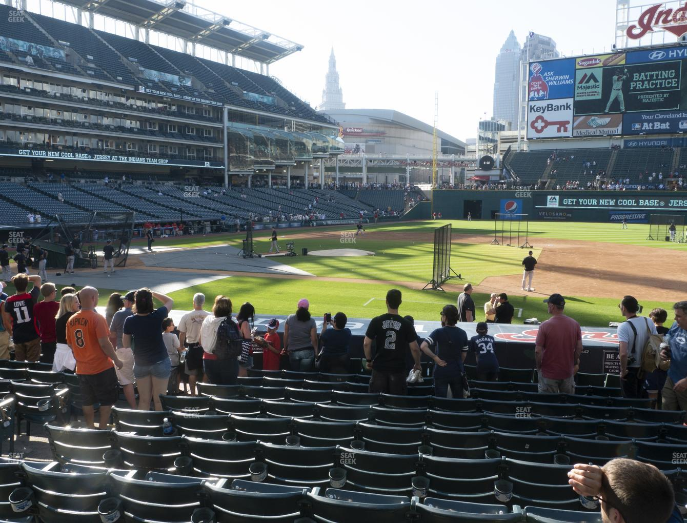 Cleveland Indians at Progressive Field Section 142 View