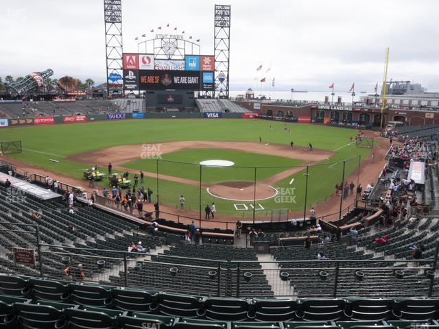 Oracle Park Section 217 view
