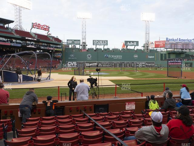 Fenway Park Field Box 35 view