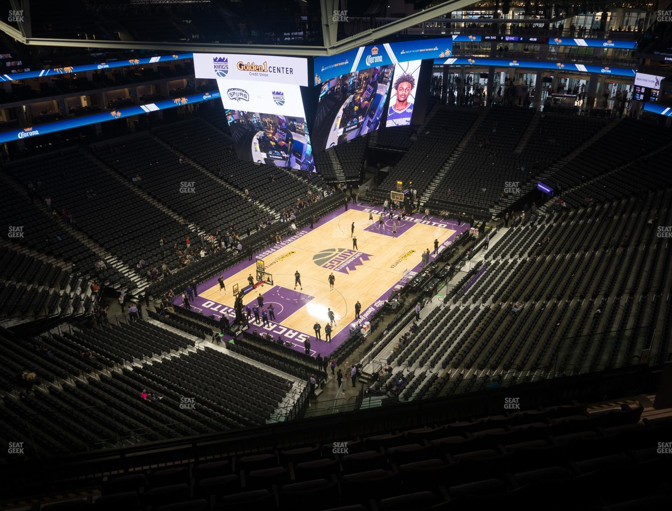 Sacramento Kings at Golden 1 Center Section 209 View