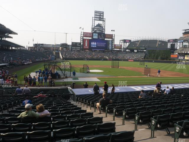 Coors Field Section 126 view