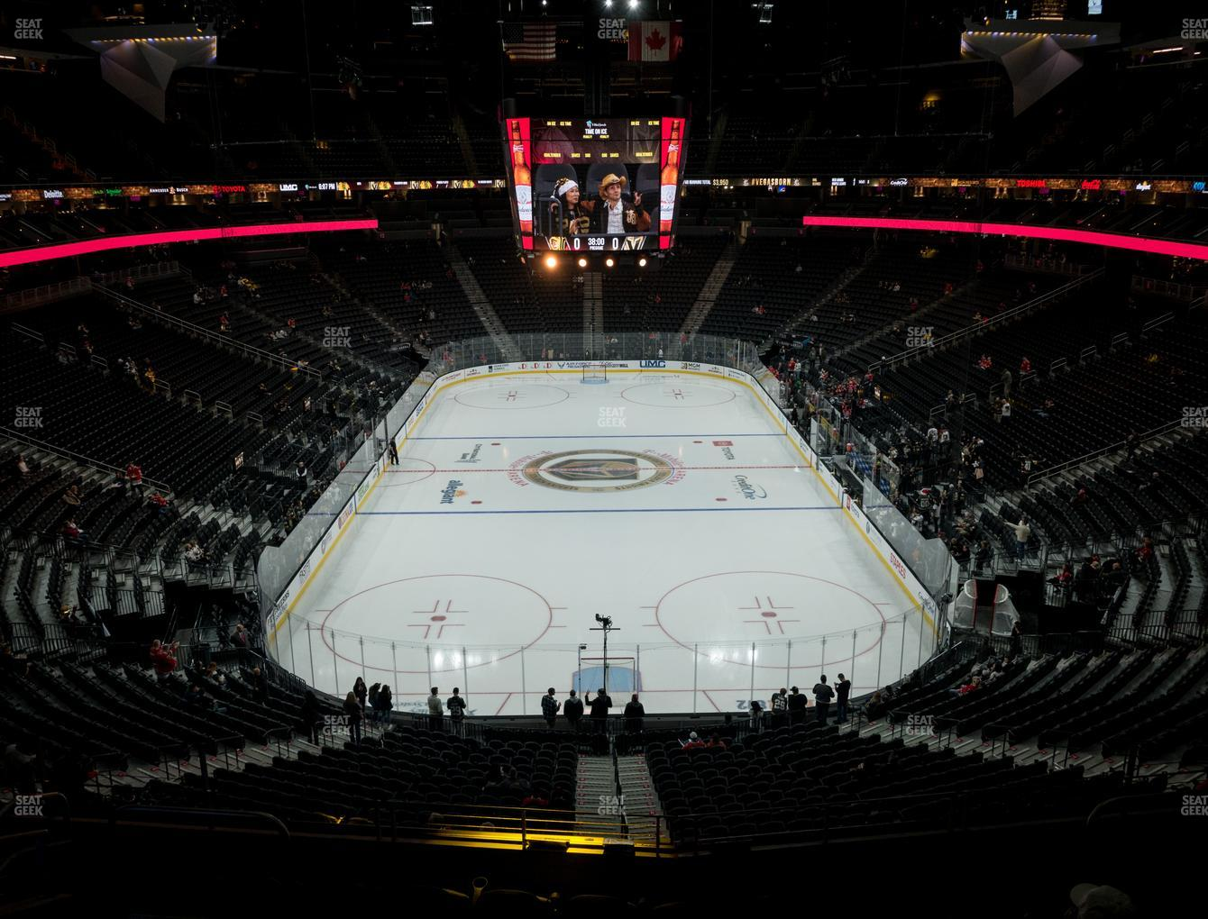 T Mobile Arena Section 101 Seat Views Seatgeek