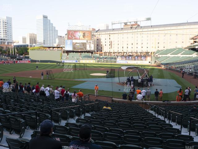Oriole Park at Camden Yards Section 44 view