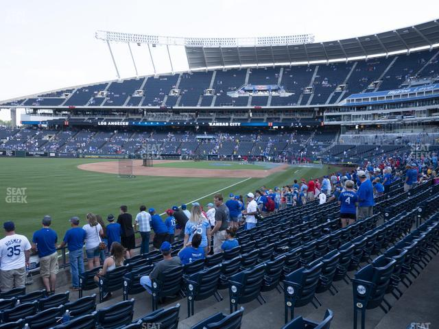 Kauffman Stadium Section 110 view