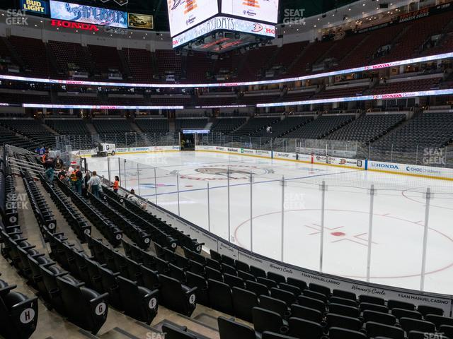 Honda Center Section 204 view