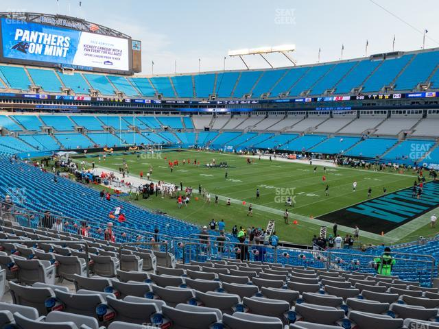 Bank of America Stadium Section 309 view
