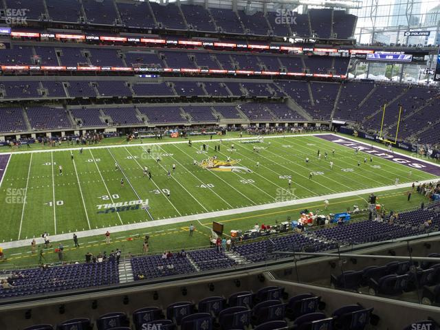 U.S. Bank Stadium Section 214 view