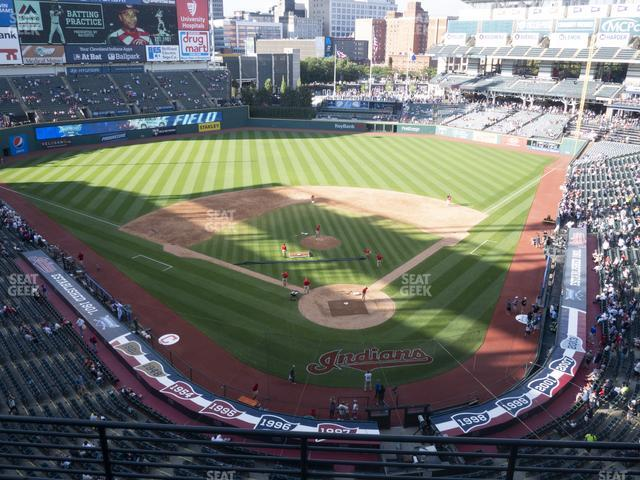 Progressive Field Section 455 view