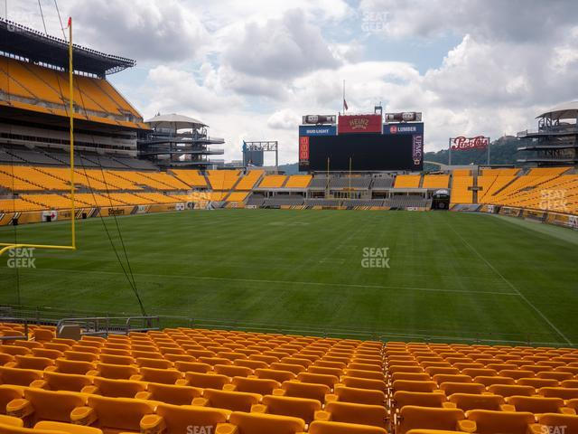 Heinz Field Section 124 view