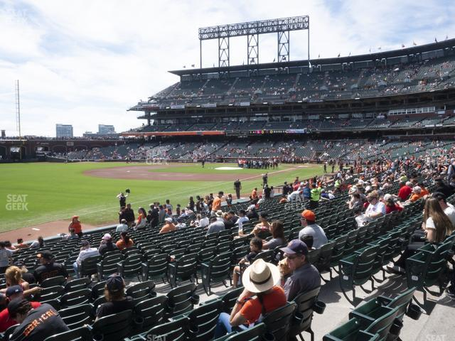 Oracle Park Section 130 view