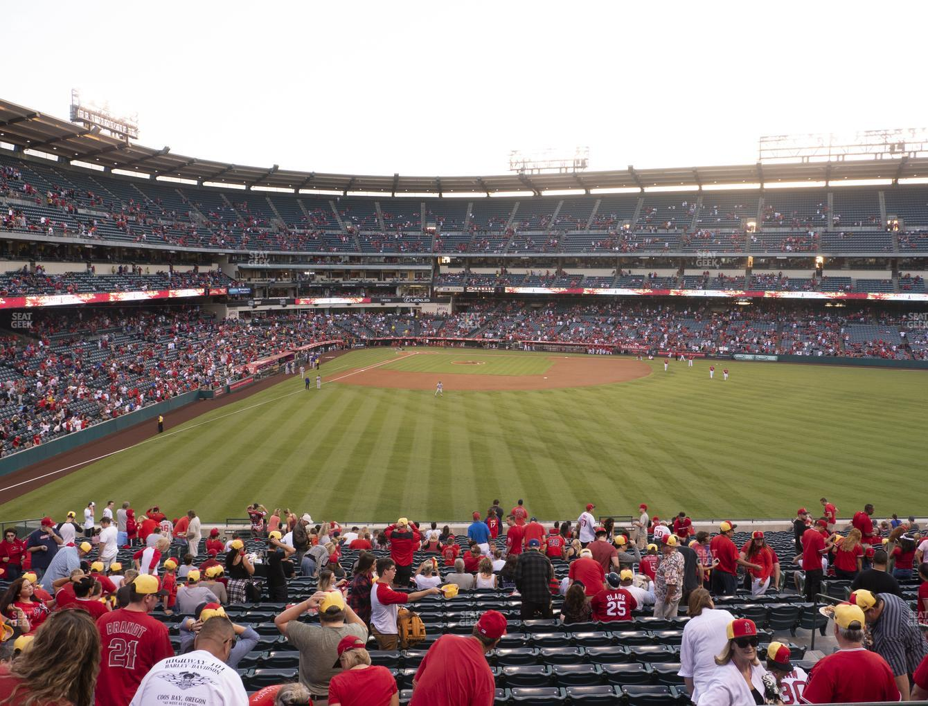 Los Angeles Angels at Angel Stadium of Anaheim Section 245 View