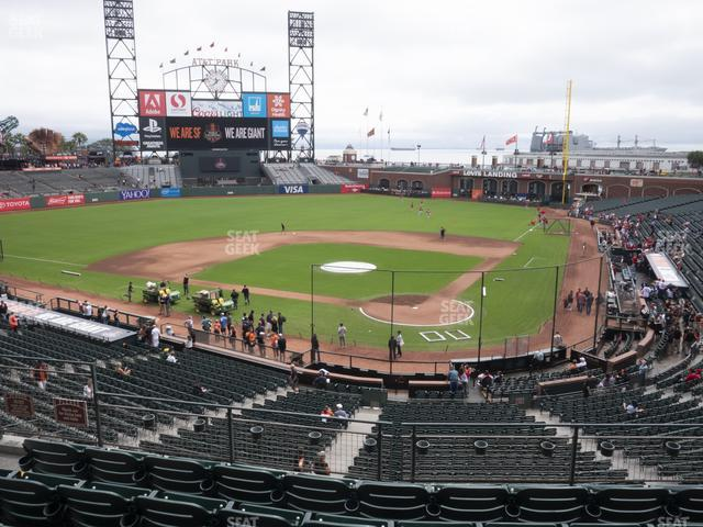 Oracle Park Section 218 view