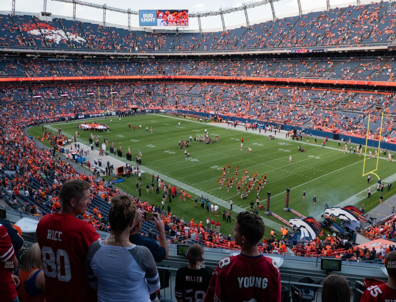 Denver Broncos at Empower Field at Mile High Section 301 View