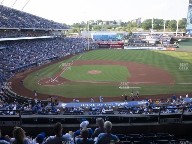 Kauffman Stadium Section 315 view