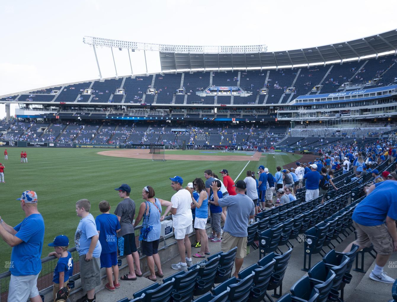 Kansas City Royals at Kauffman Stadium Section 108 View