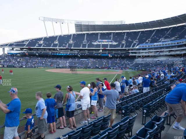 Kauffman Stadium Section 108 view