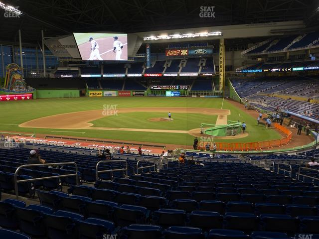 Marlins Park Section 18 view