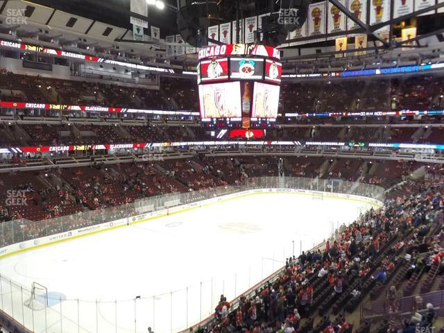 United Center Section 205 view