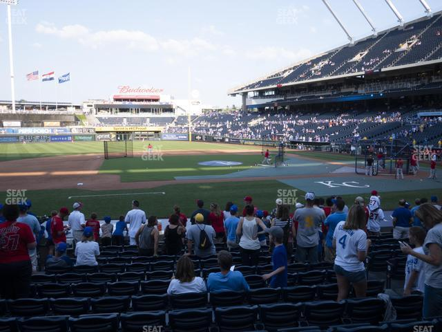 Kauffman Stadium Section 120 view
