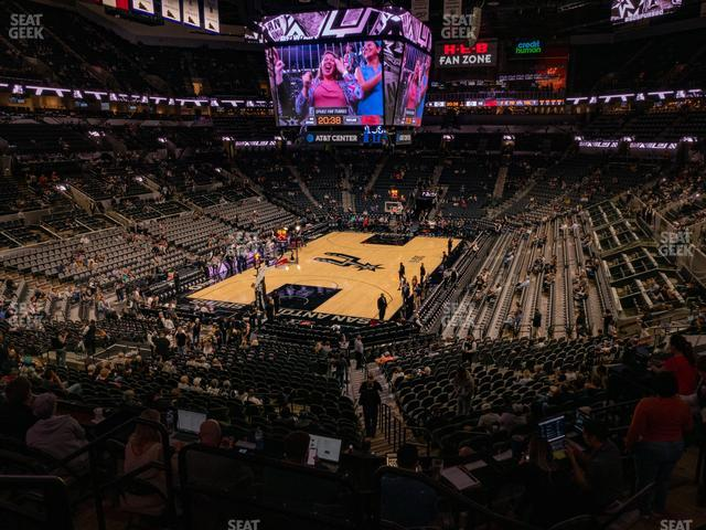 AT&T Center Section 127 view