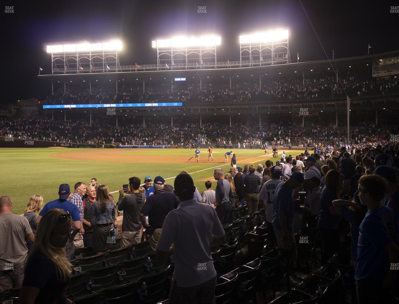 Chicago Cubs at Wrigley Field Club Box Outfield 5 View