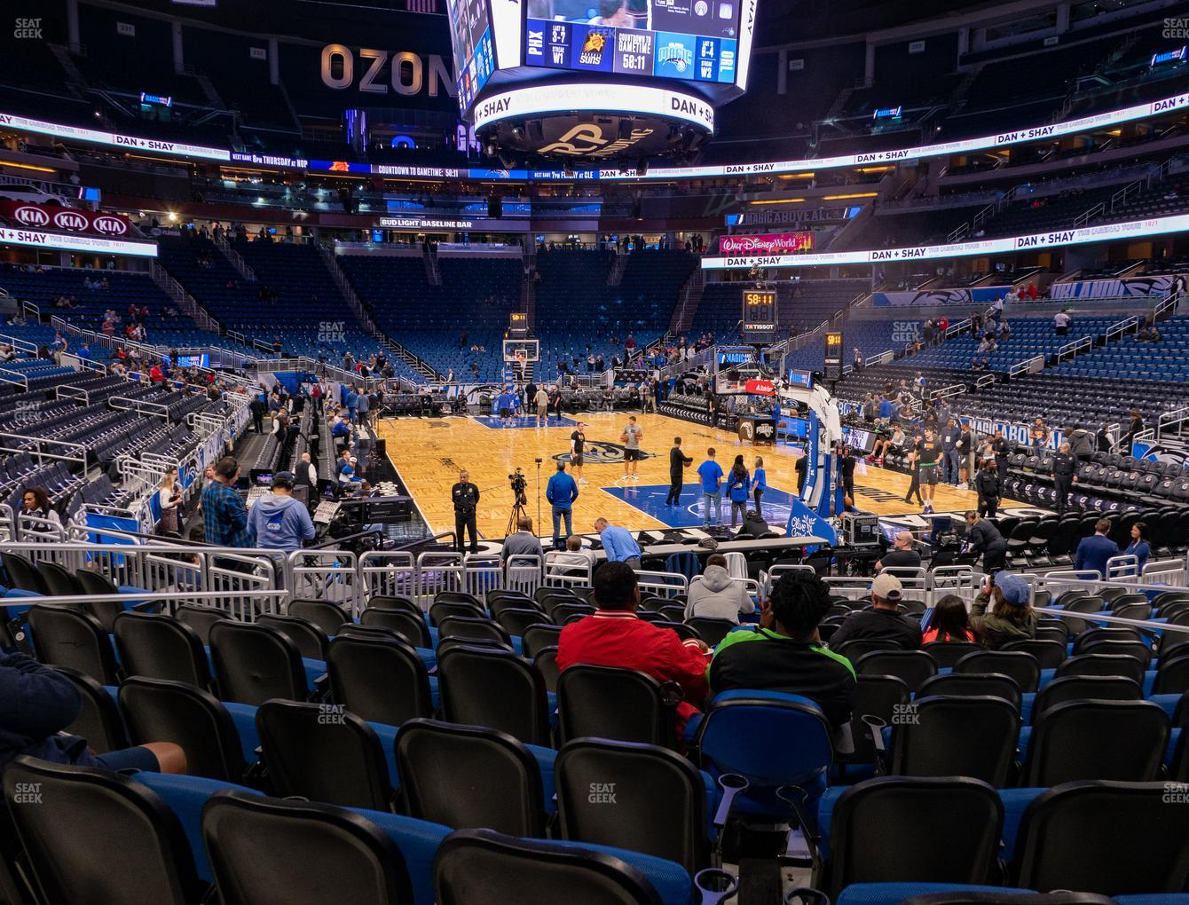 Orlando Magic at Amway Center Section 111 View