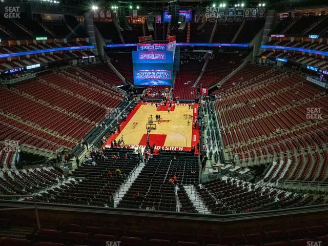 Toyota Center Section 434 view