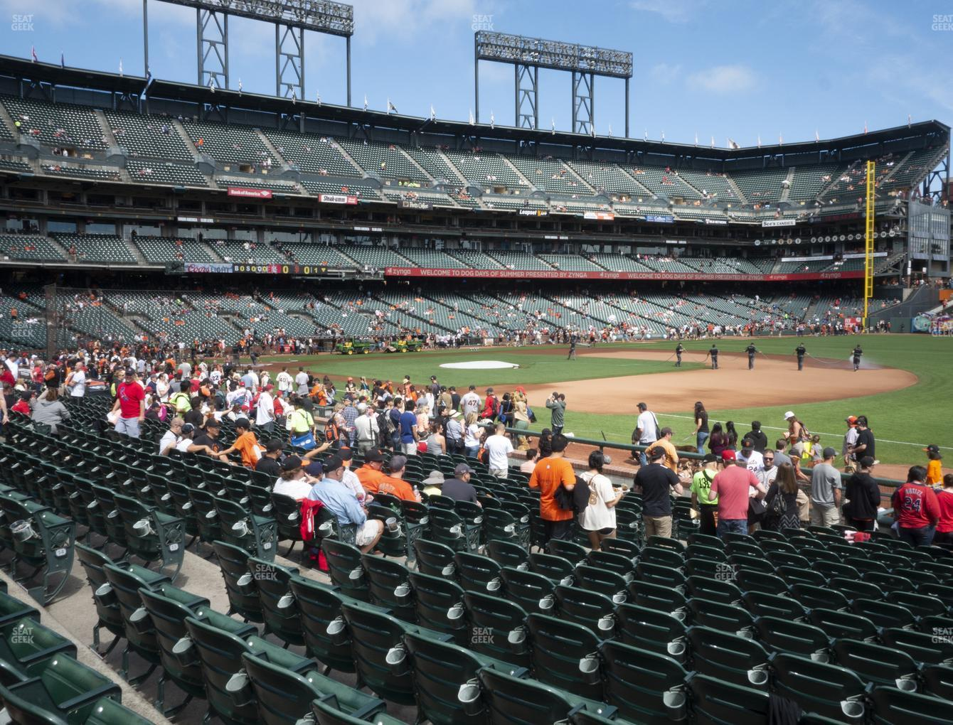 Oracle Park Section 104 Seat Views
