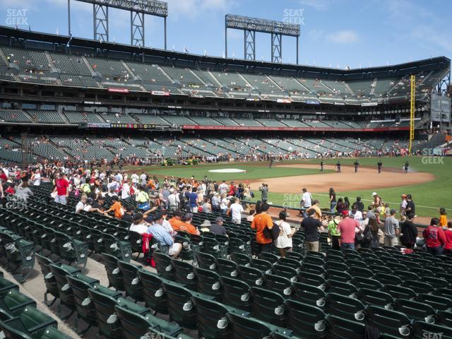 Oracle Park Section 104 view
