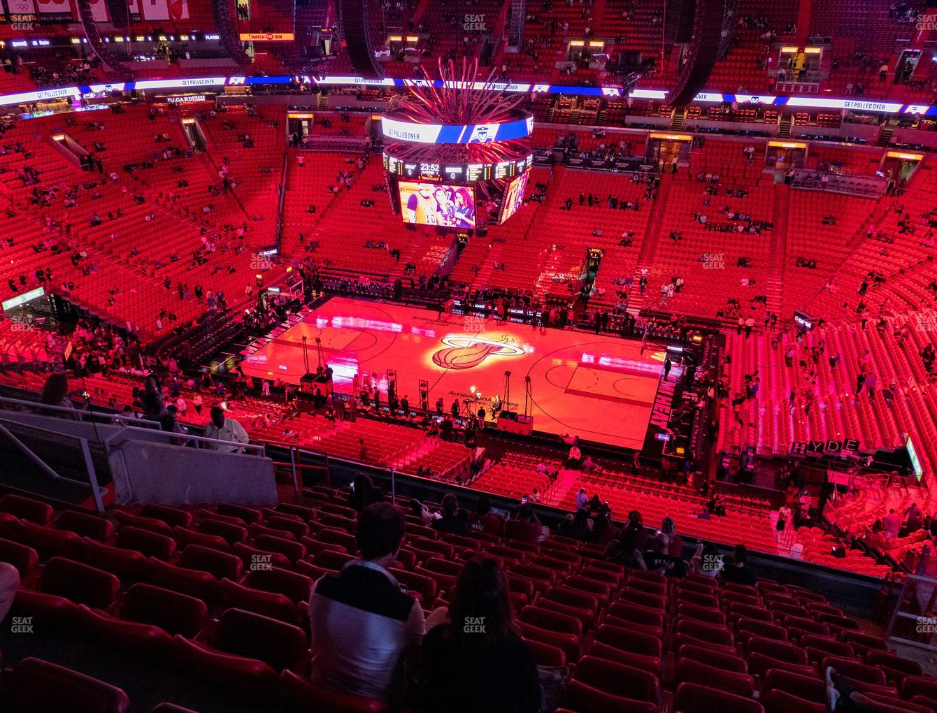 Miami Heat at American Airlines Arena Section 323 View