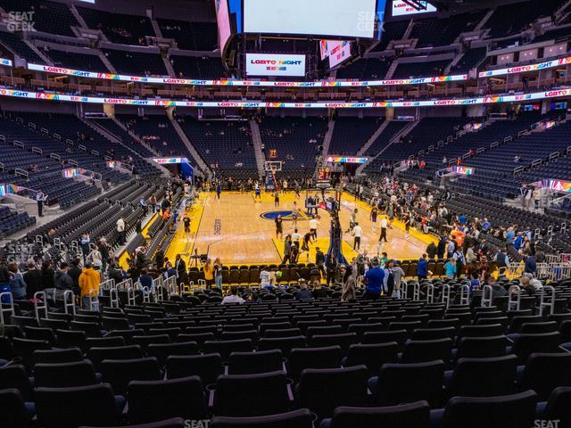 Chase Center Section 122 view
