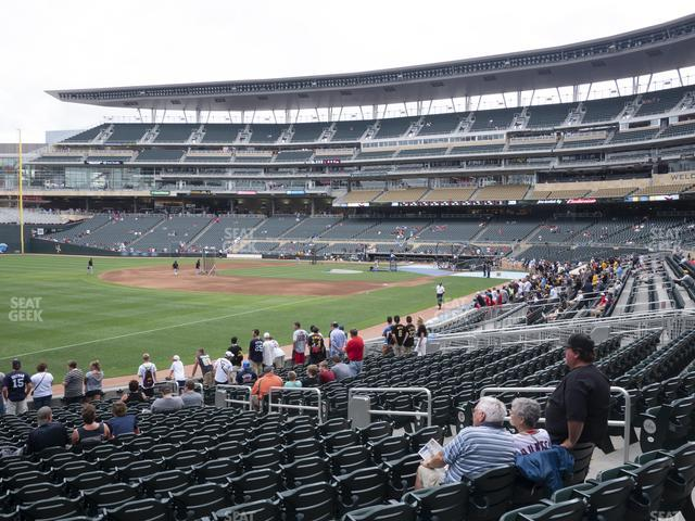 Target Field Section 125 view
