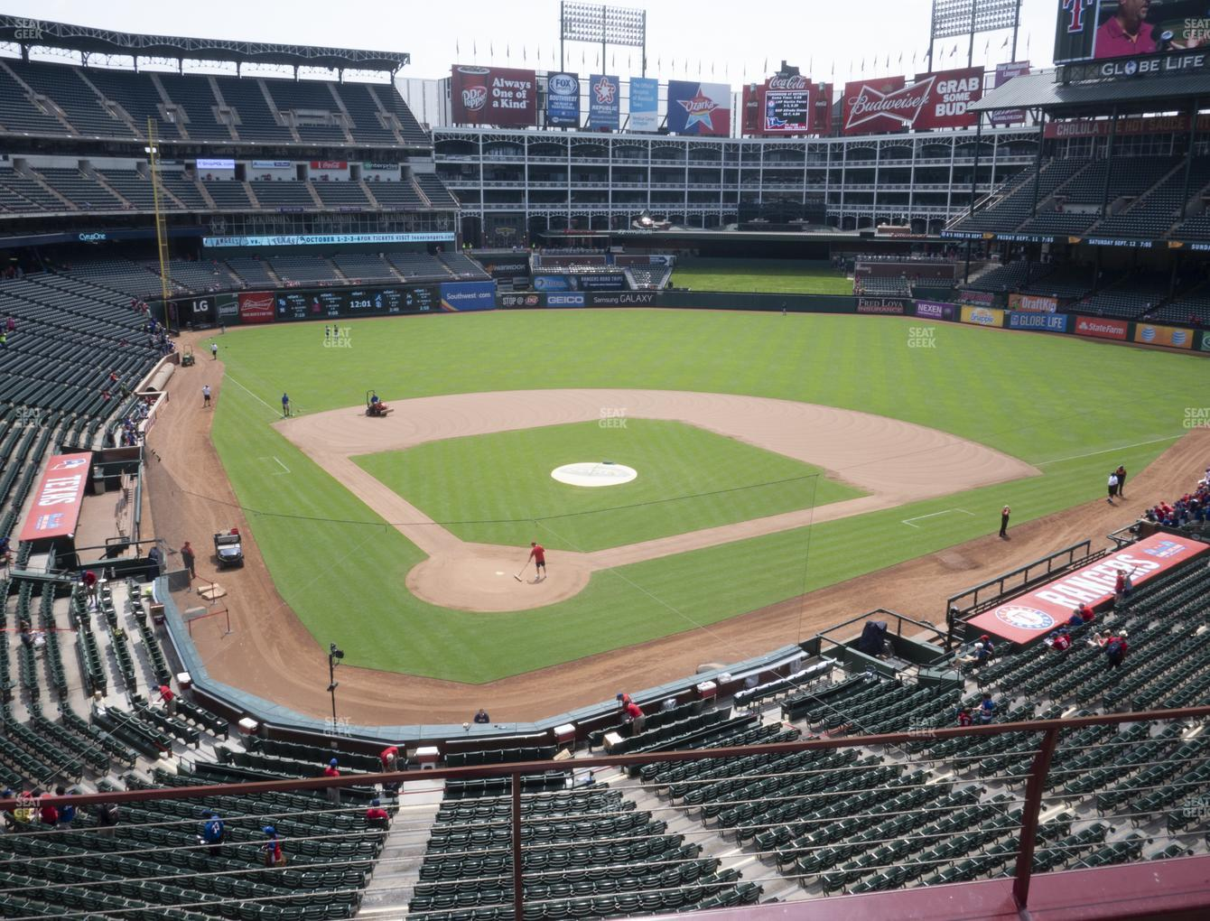 Texas Rangers at Globe Life Park Section 228 View