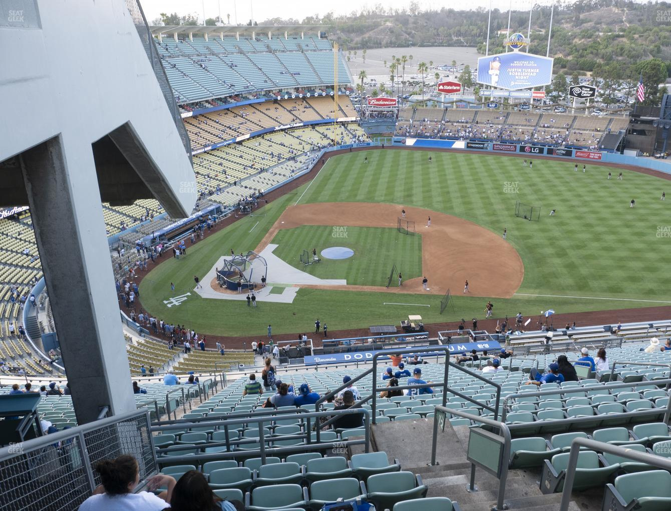 Los Angeles Dodgers at Dodger Stadium Section Top Deck 12 View